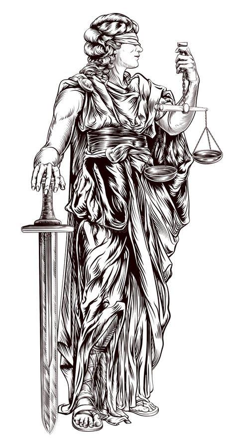 Madame Justice illustration de vecteur