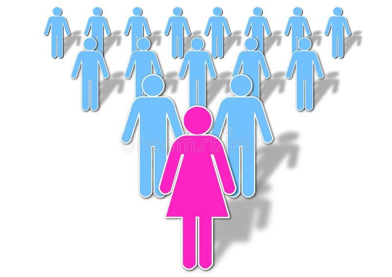 Madame Leadership photo libre de droits