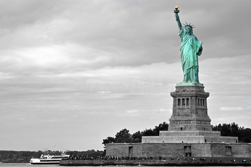 Madame Liberty - emphase de couleur photo stock