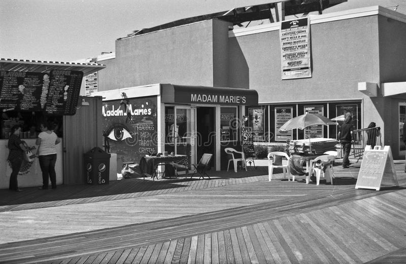Madame Marie's, parc d'Asbury, NJ photo libre de droits