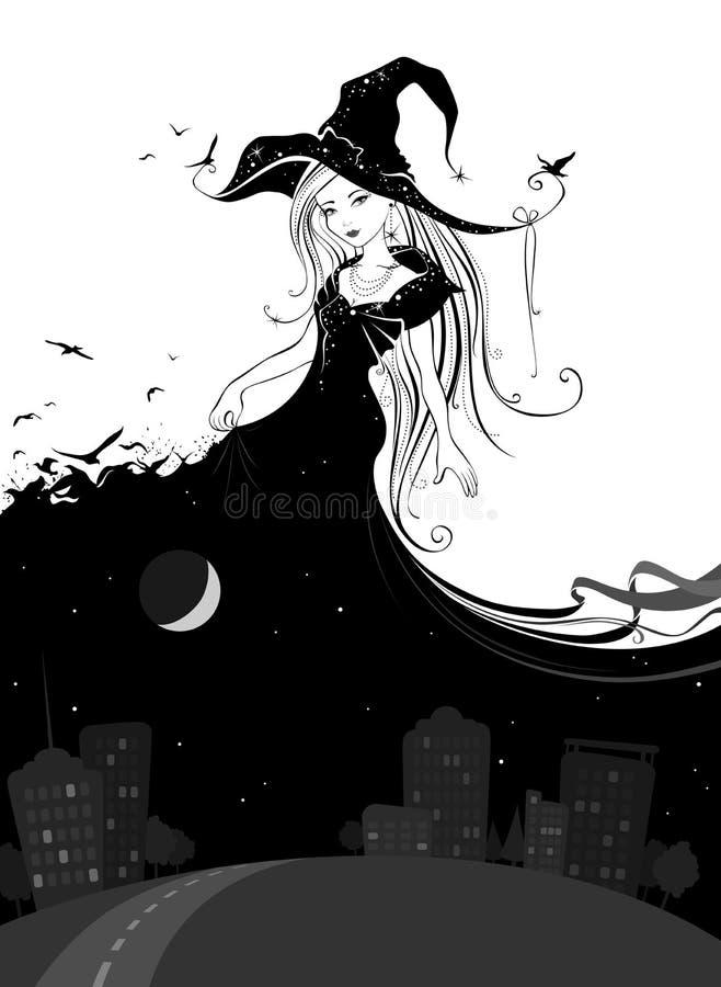 Madame Night illustration de vecteur