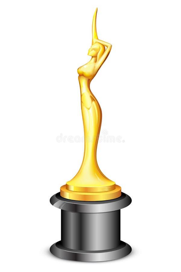 Madame Statue Trophy illustration libre de droits