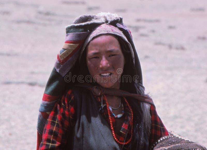 Madame tibétaine, Thibet, Asie photographie stock libre de droits