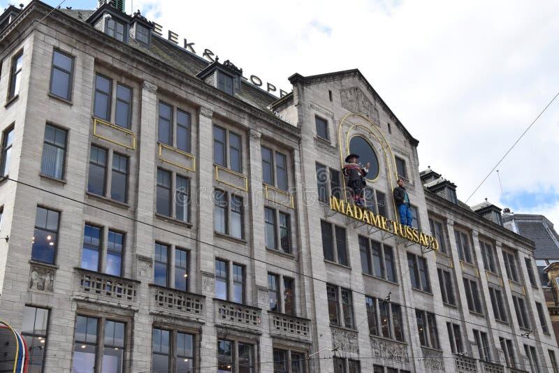 Madame Tussauds auf Verdammungs-Straße in Amsterdam, Holland, die Niederlande stockfoto