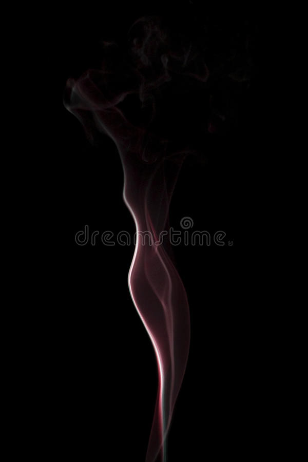 Madame Up dans la fumée image libre de droits