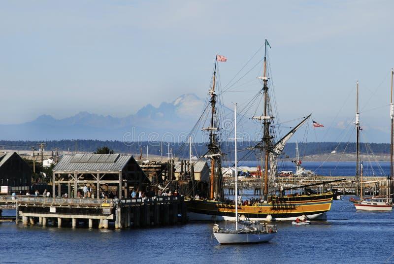 Madame Washington dans le port image libre de droits