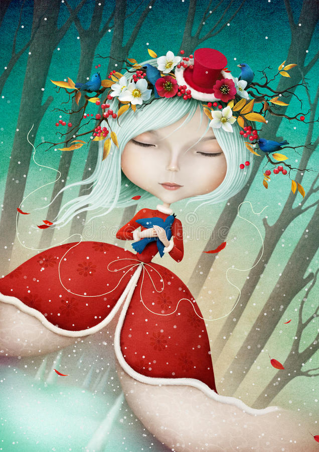 Madame Winter illustration libre de droits
