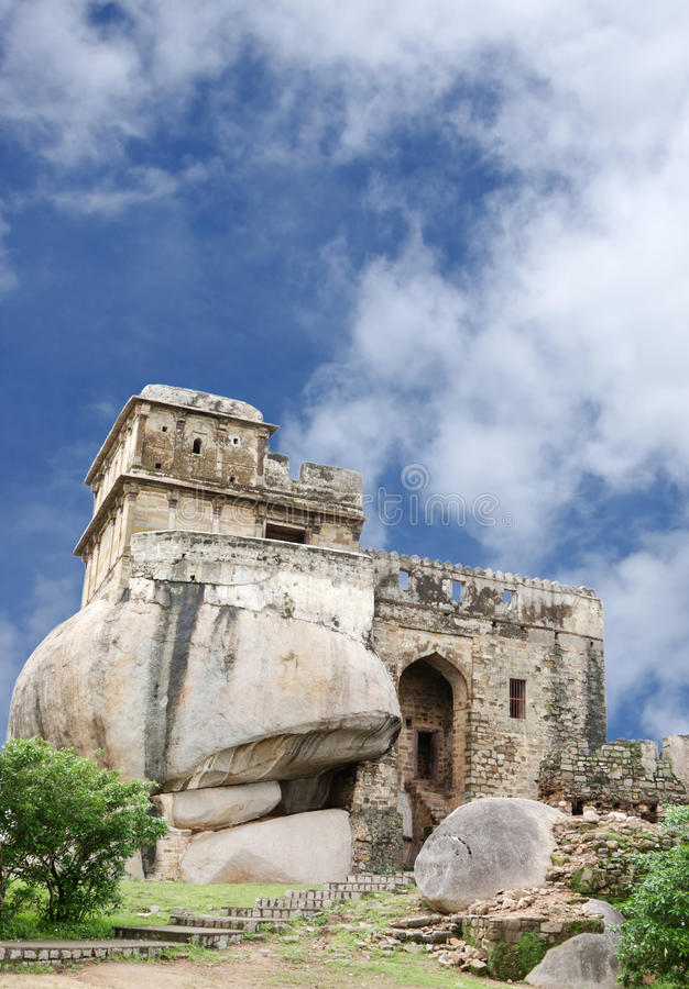 Madan Mahal Fort, Jabalpur, Indien royaltyfria bilder