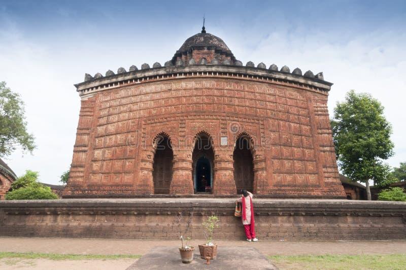 Madanmohan tempel, Bishnupur, Indien fotografering för bildbyråer