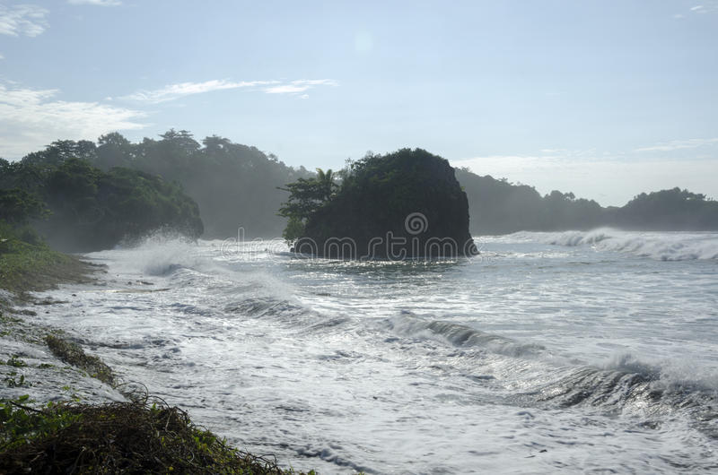 Madasari Beach. West Java - Indonesia royalty free stock photography