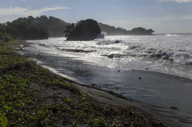 Madasari Beach. West Java - Indonesia stock photos