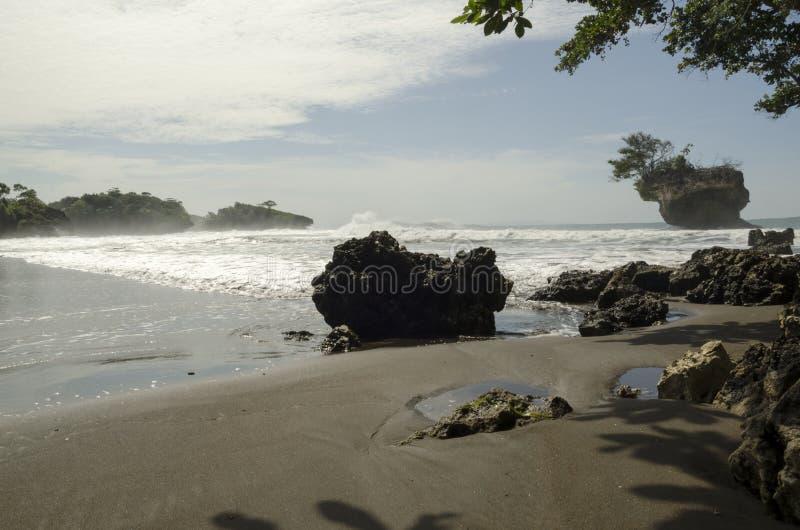 Madasari Beach. West Java - Indonesia stock image
