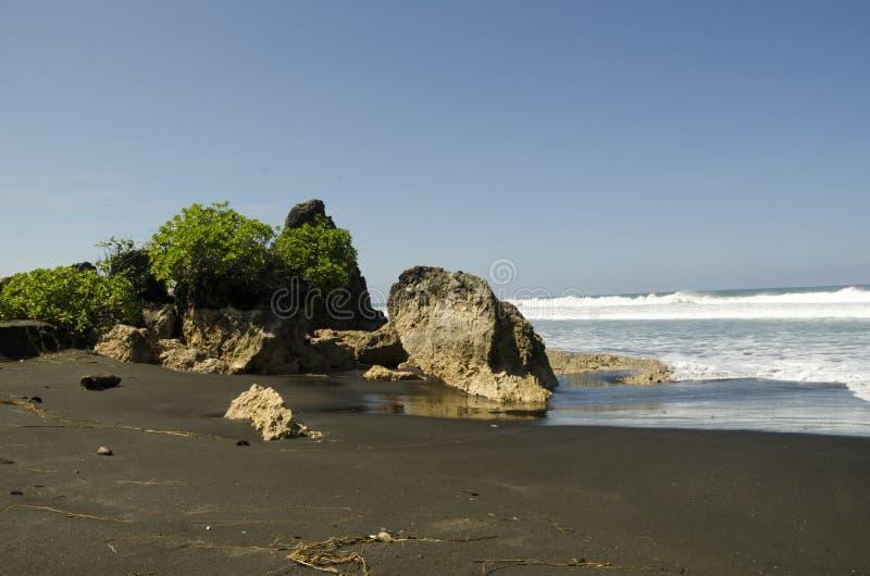 Madasari Beach. West Java - Indonesia stock photography