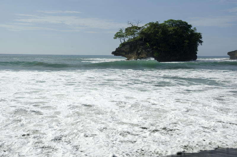 Madasari Beach. West Java - Indonesia royalty free stock images