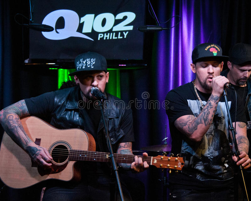 The Madden Brothers Perform at Q102 in Bala Cynwyd, PA, USA royalty free stock photography