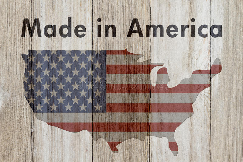 Made in America message royalty free illustration