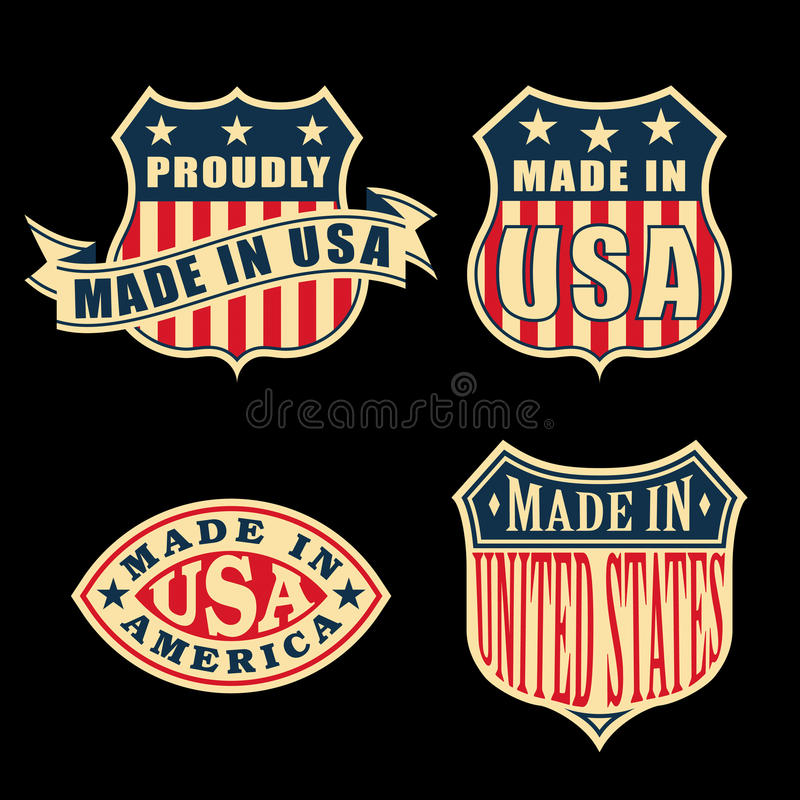 Download Made in America stock vector. Illustration of sign, shape - 31600075