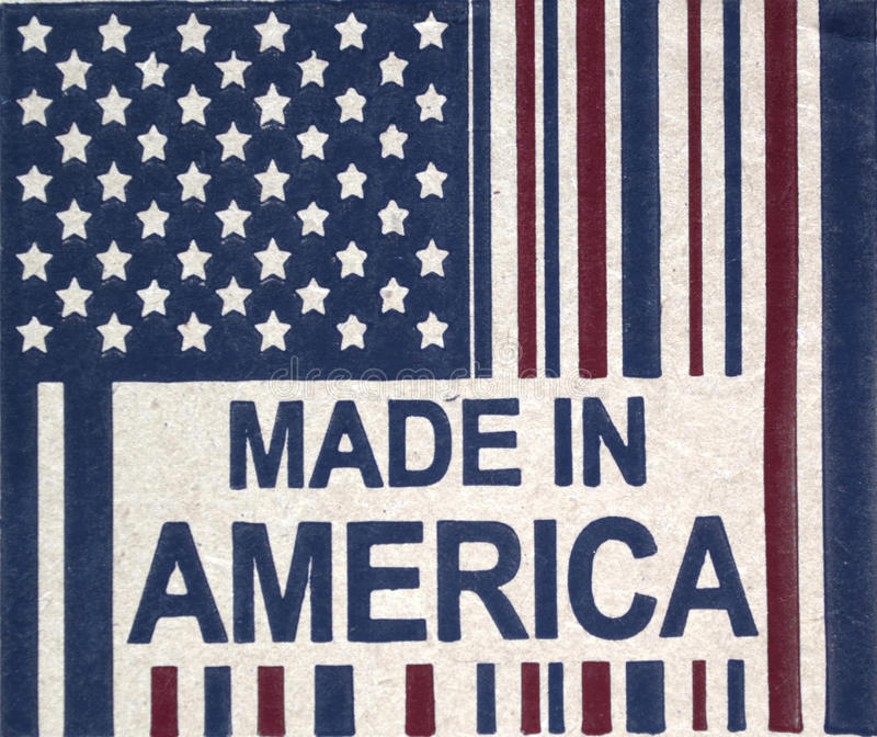 Made in America. Sign expressing pride in industry and manufacturing royalty free stock photos