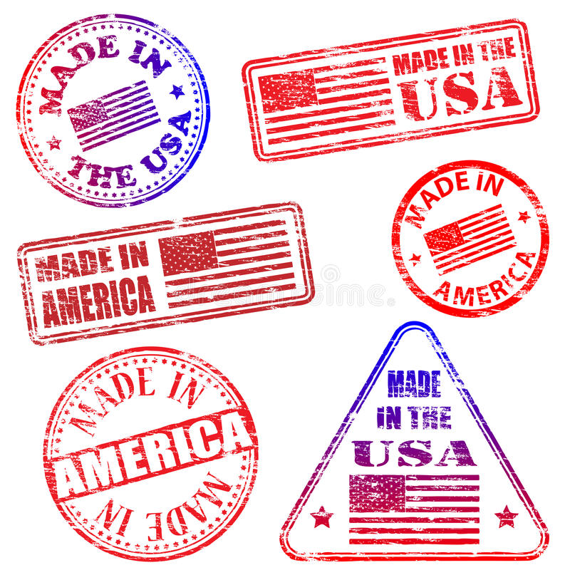 Made In America Stamps royalty free illustration