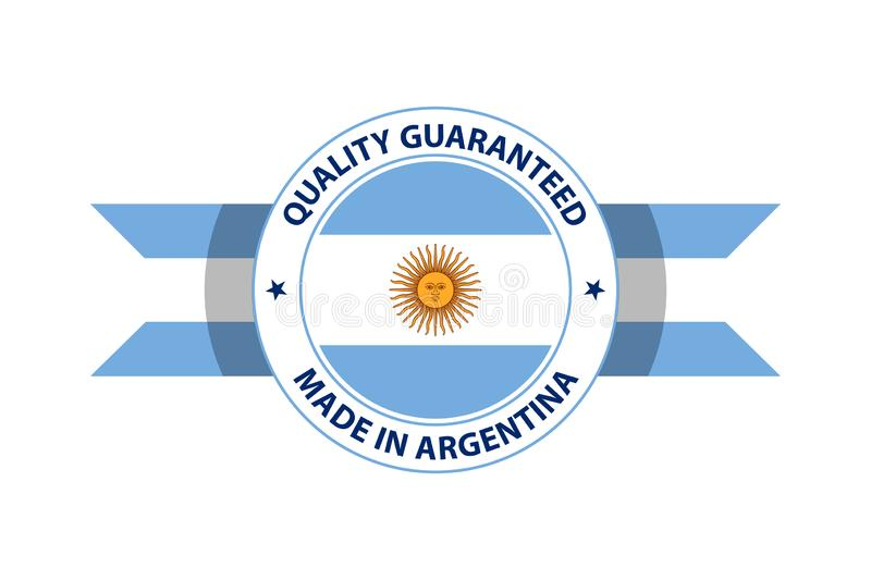 Made in Argentina quality stamp. Vector illustration stock illustration