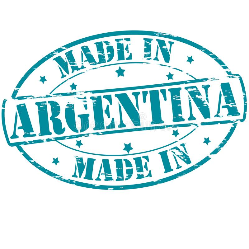 Made in Argentina. Rubber stamp with text made in Argentina inside, illustration stock illustration