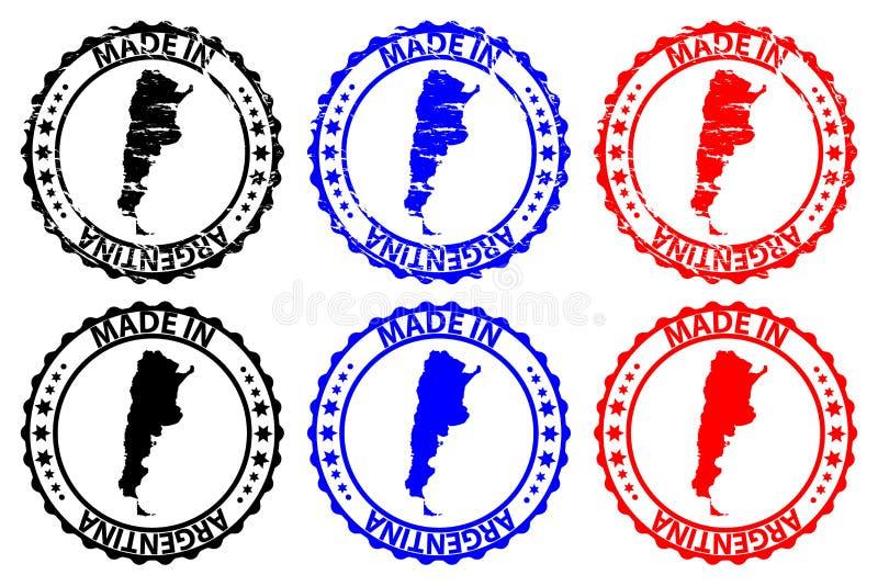 Made in Argentina rubber stamp vector illustration