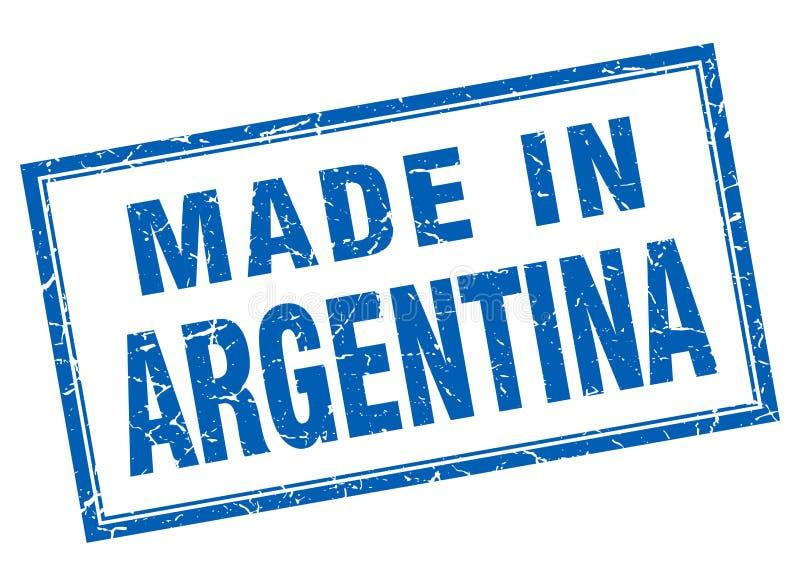 made in Argentina stamp stock illustration