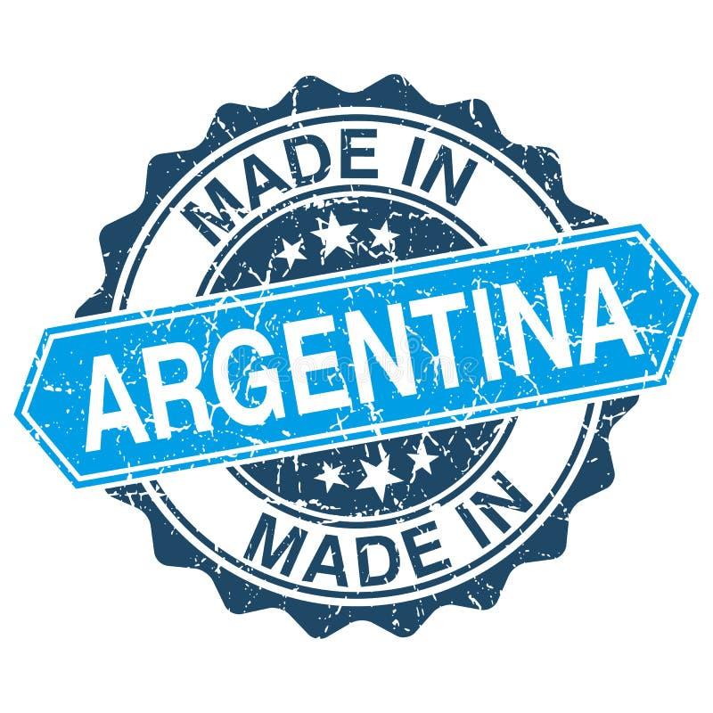 Made in Argentina vintage stamp stock illustration