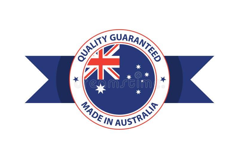 Made in Australia quality stamp. Original vector illustration. Sydney, Canberra royalty free illustration