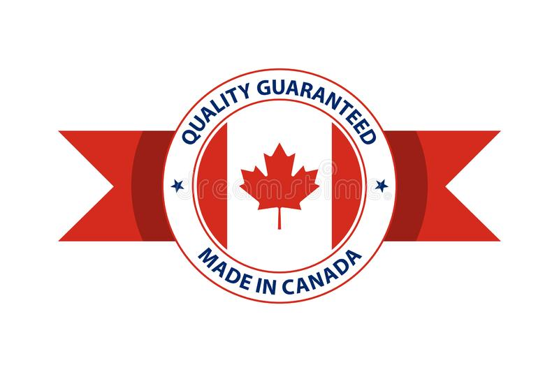Made in Canada quality stamp. Vector illustration. Ottawa, Toronto, Vancouver vector illustration