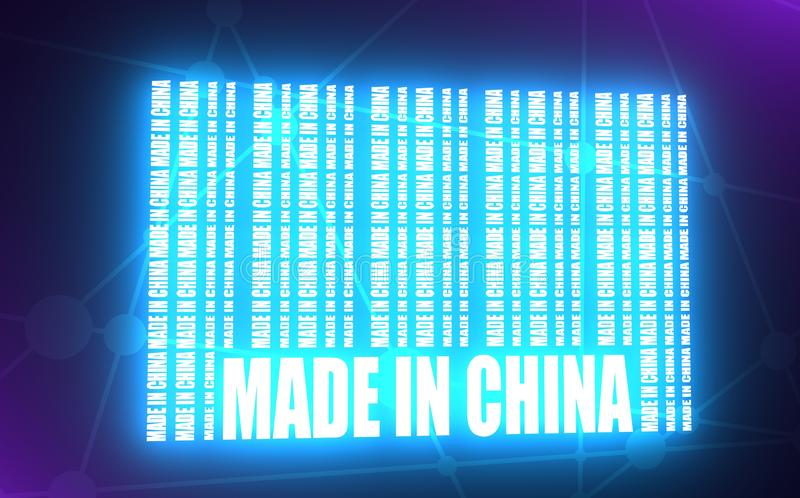 Made in China text vector illustration