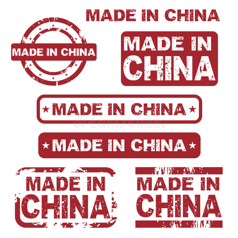 Made in china grunge stamps royalty free illustration