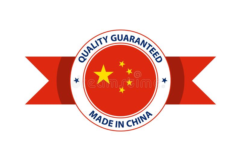 Made in China quality stamp. Vector illustration royalty free illustration