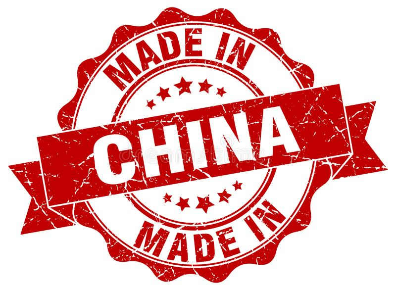 Made in China seal. Made in China round seal stock illustration