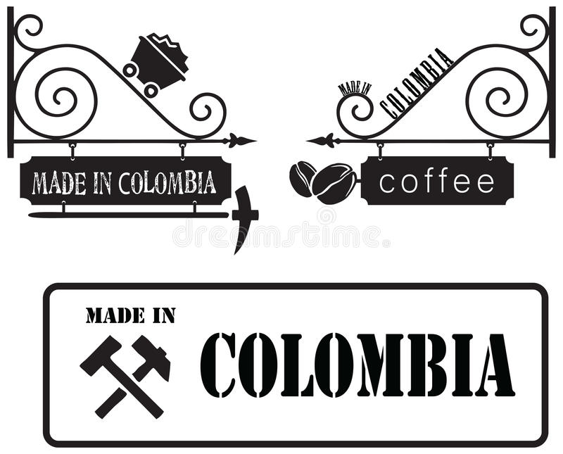 Made in Colombia vector illustration