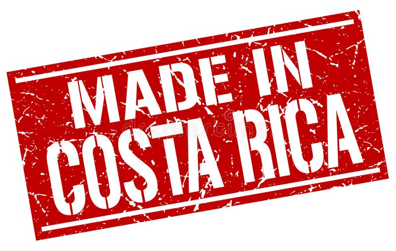 Made in Costa Rica stamp. Made in Costa Rica square grunge stamp isolated on white background. Costa Rica vector illustration