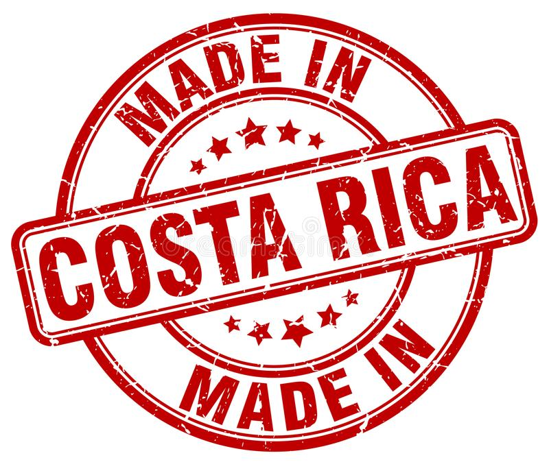 Made in Costa Rica stamp. Made in Costa Rica round grunge stamp isolated on white background. Costa Rica. made in Costa Rica stock illustration