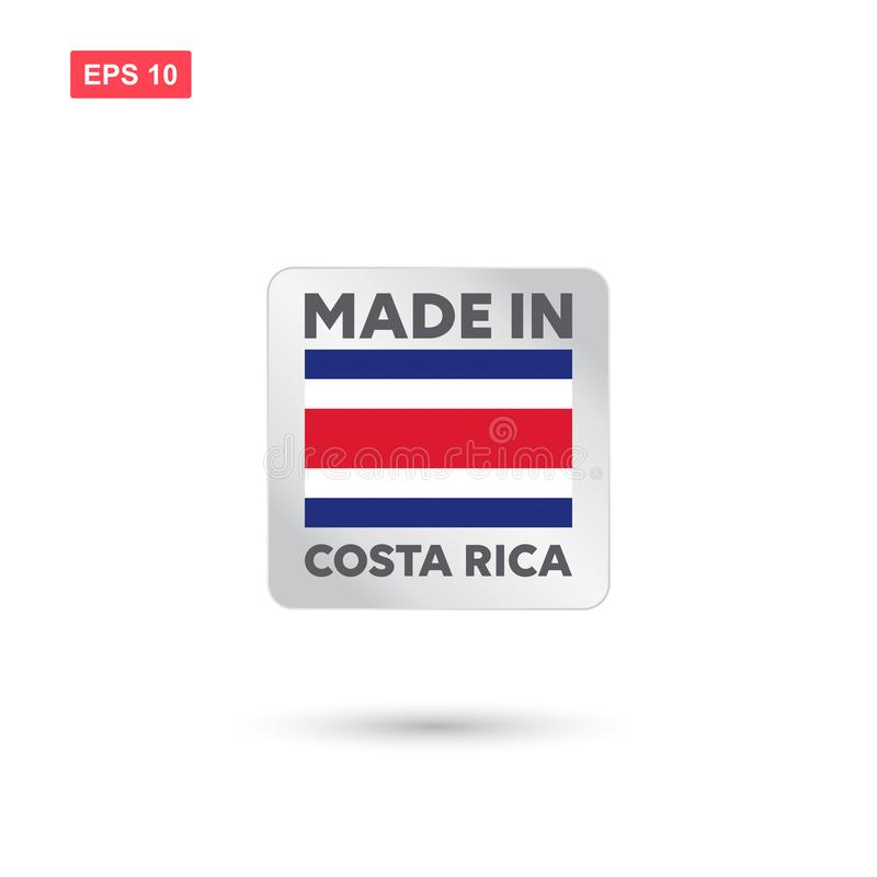 Made in costa rica vector. Eps10 royalty free illustration