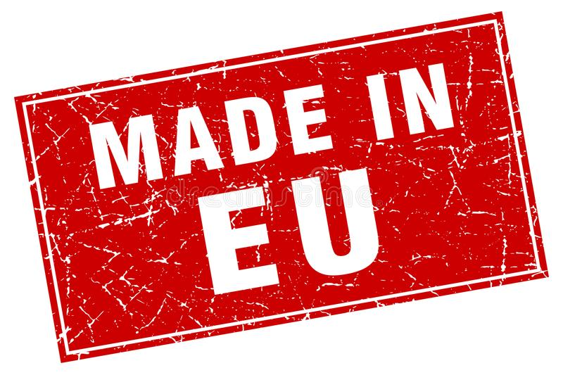 made in eu stamp royalty free illustration