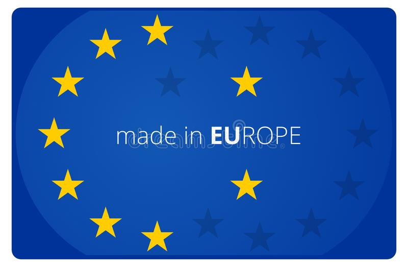 Made in Europe creative abstract symbol icon 3d-illustration stock illustration