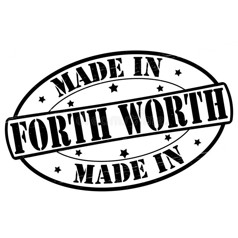 Made in Forth Worth. Stamp with text made in Forth Worth inside, illustration stock illustration