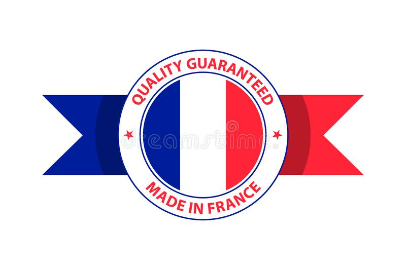 Made in France quality stamp. Vector illustration stock illustration