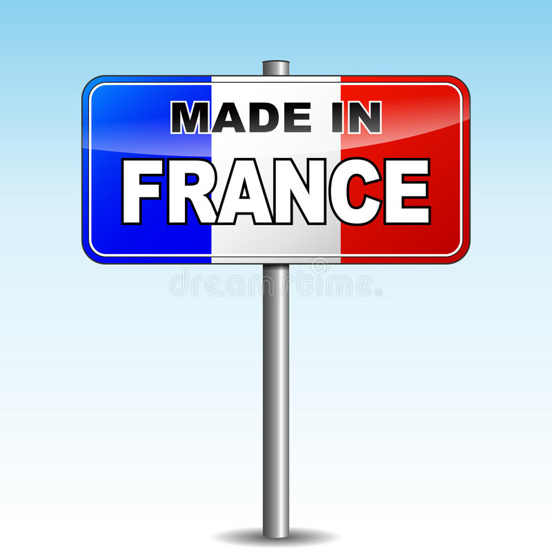 Download Made in france signpost stock vector. Illustration of isolate - 39512145