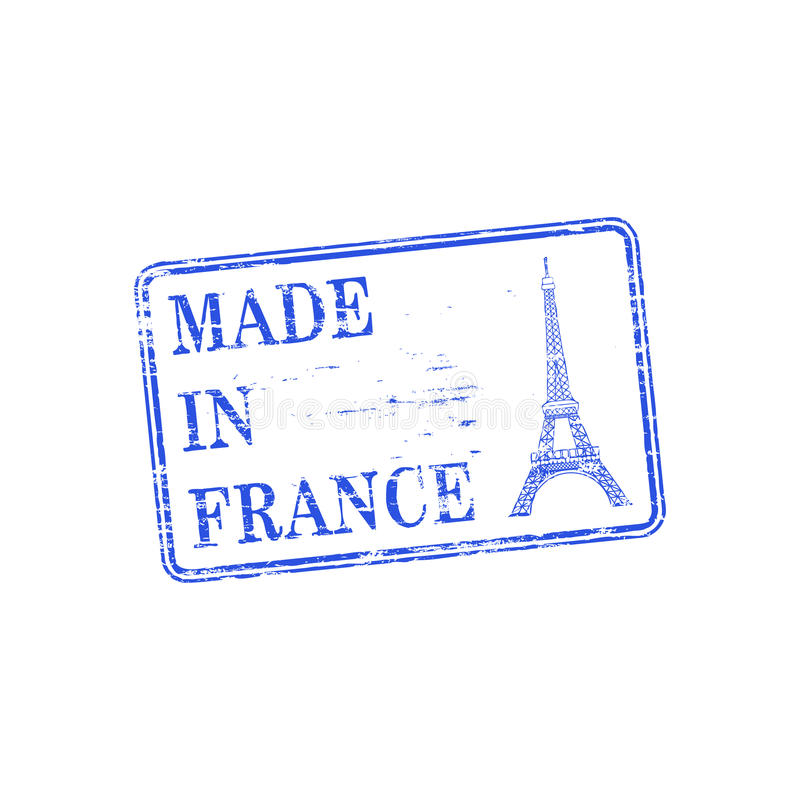 Made In France Stamp vector illustration