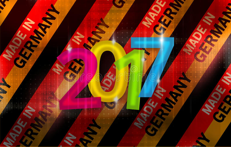 2017 made in germany background german modern abstract flag 3D royalty free illustration