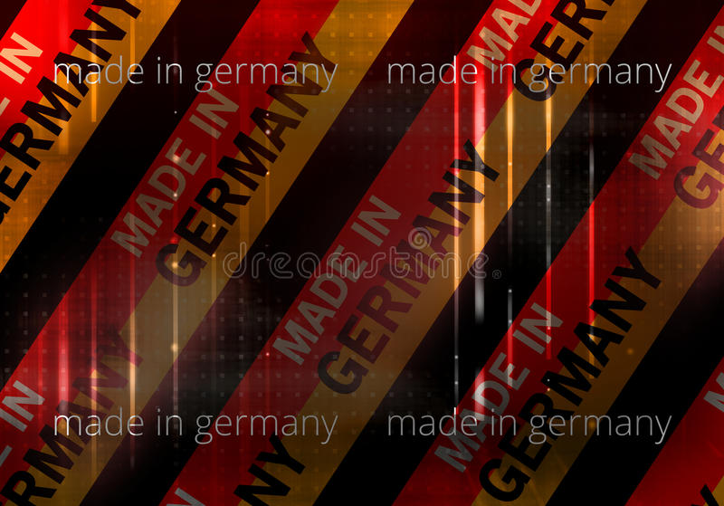 Made in germany background german modern abstract flag vector illustration