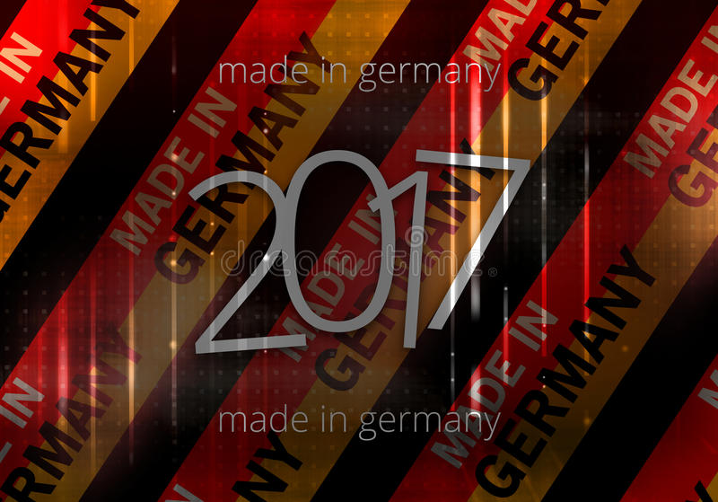 2017 made in germany background german modern abstract flag vector illustration