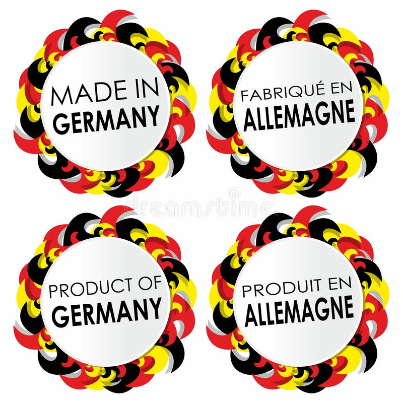 Made In Germany Badges. Abstract Made In Germany Badges vector illustration royalty free illustration