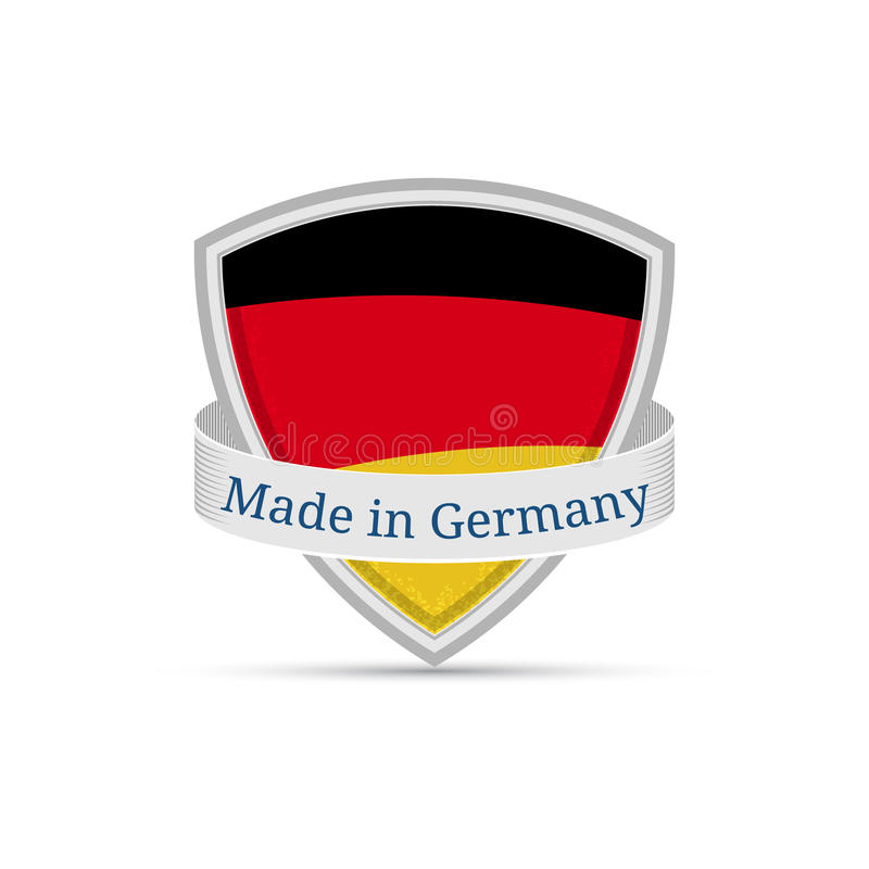 Made In Germany German Flag On The Shield Stock Vector