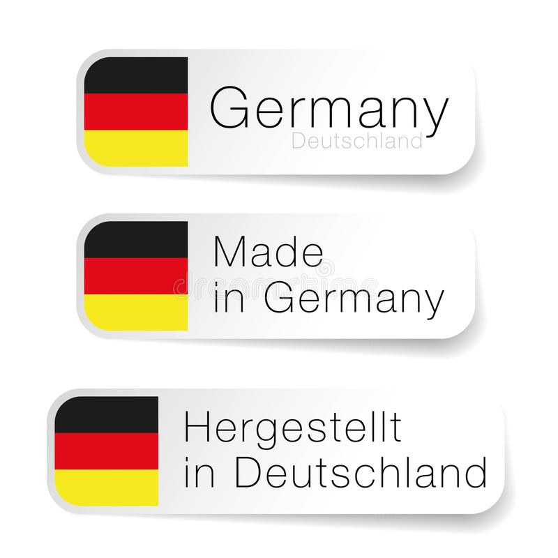 Made In Germany Label With German Translation Stock Vector